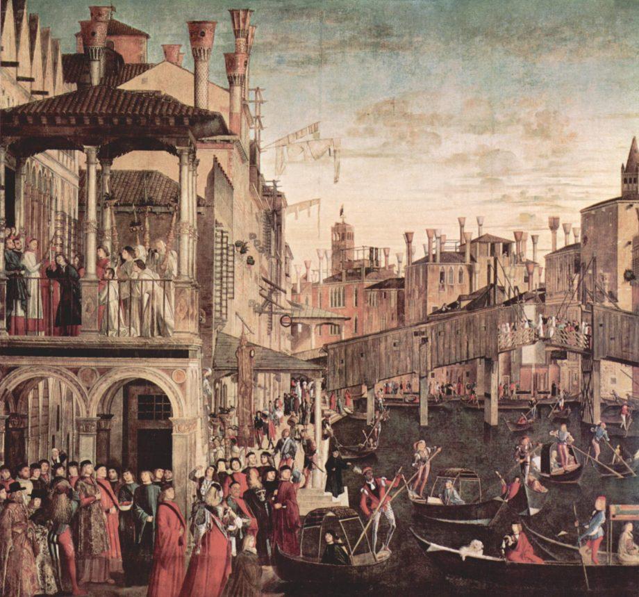 Vittore Carpaccio The Miracle of the Relic of the Cross at the Ponte di Rialto Gallerie dell'Accademia Venice