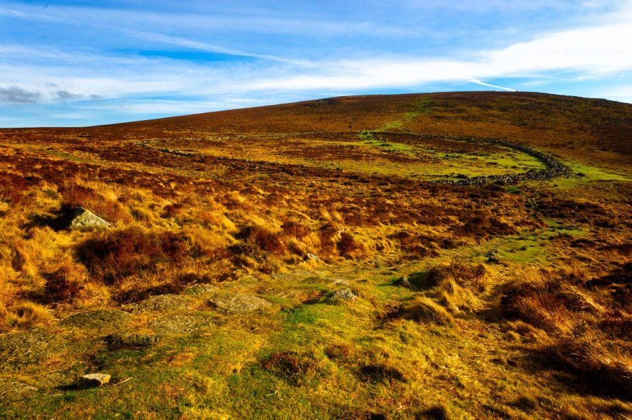 Grimspound Bronze Age village Dartmoor National Park