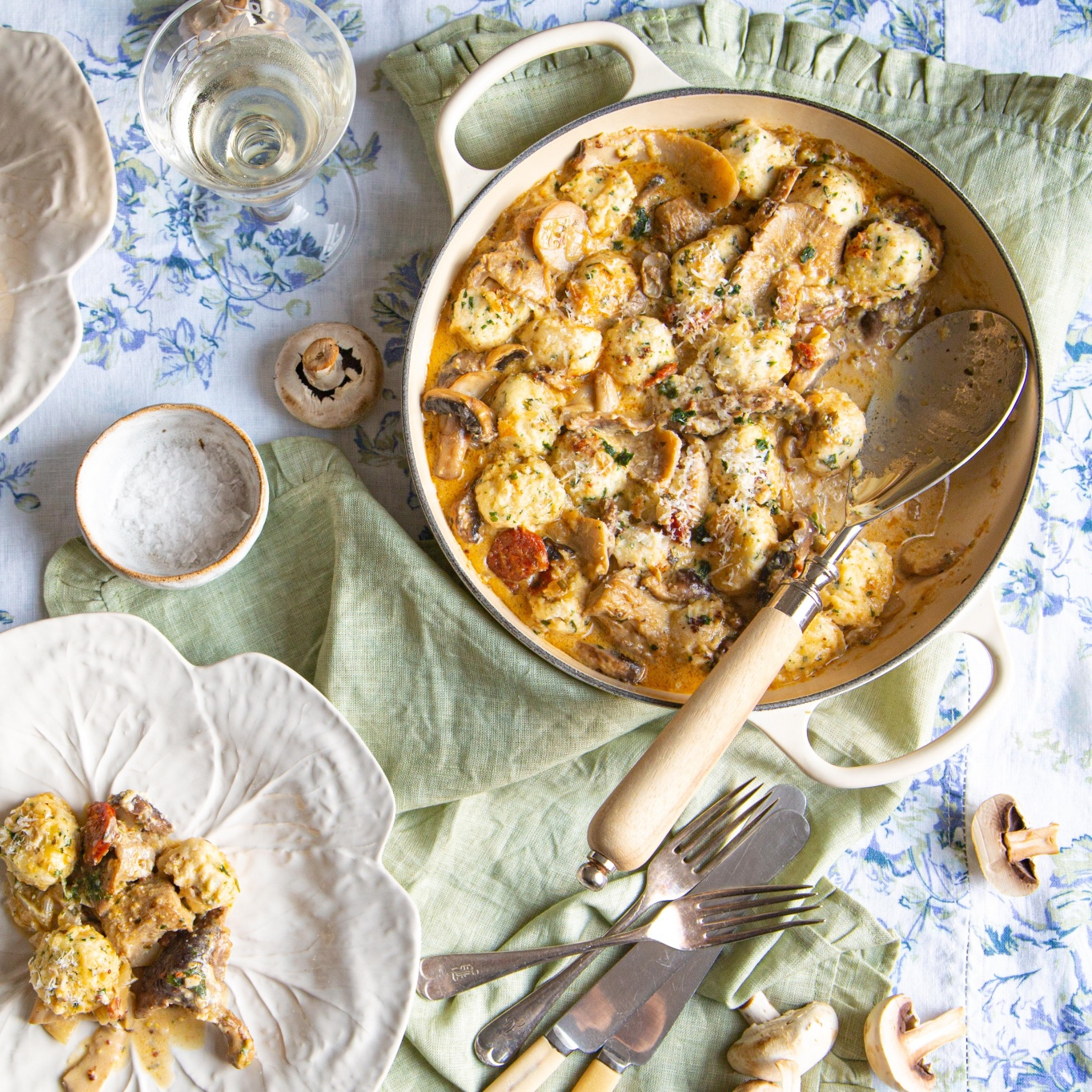 How to make gnudi — the feather-light cousin of gnocchi — with wild mushrooms and chorizo - Country Life