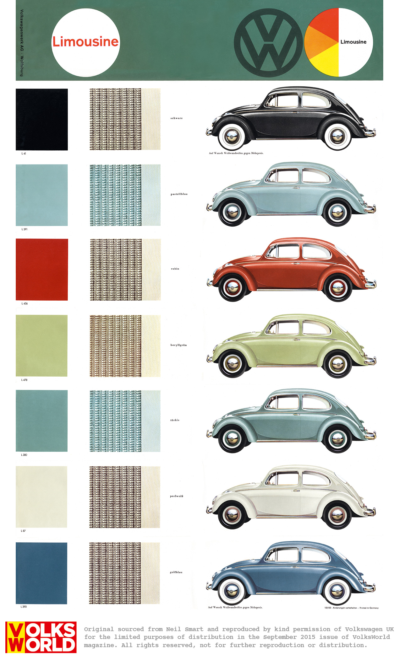 Vw beetle colour charts volksworld Classic red paint color